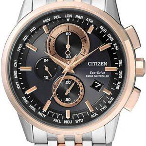 Reloj CITIZEN Eco-Drive RADIO CONTROLLED AT8116-65E - Reloj de caballero, correa de acero, plateado y bisel cobre