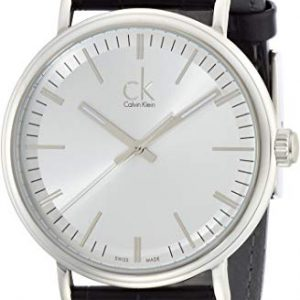 Calvin Klein K3W211C6 Reloj analógico de Cuarzo para Hombre con Correa de Piel Color Negro