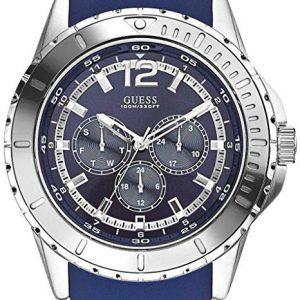 Guess Reloj Cronógrafo para Hombre de Cuarzo con Correa en Silicona W0485G3