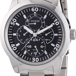 Guess W11562G3 Reloj analógico de Cuarzo para Hombre con Correa de Acero Inoxidable Color Plateado