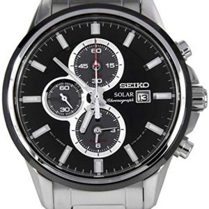 Reloj Seiko Solar Ssc255p1 Hombre Negro