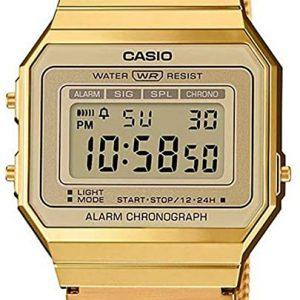 Reloj Casio Mujer Digital Correa Acero Inoxidable A700WEMG-9AEF