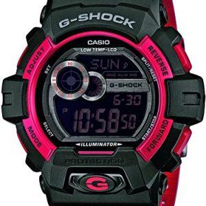 Reloj CASIO G-Shock Cuarzo Correa Resina Color RojoNegro GLS-8900CM-4ER