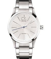 Reloj Calvin Klein New Caballero Cuarzo Acero Inoxidable Color Plata K2241102