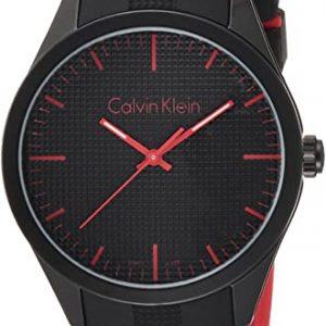 Reloj Calvin Klein Unisex Pulsera analógico Cuarzo Caucho K5E51TB1