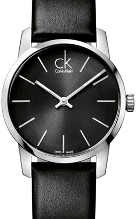 Reloj Calvin Klein analógico Cuarzo Correa de Piel, Color Negro K2G23107