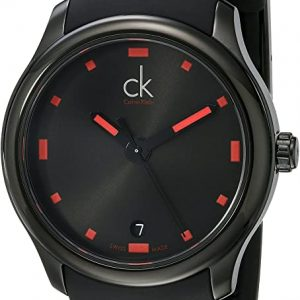Reloj Calvin Klein esfera negra correa caucho K2V214-DZ