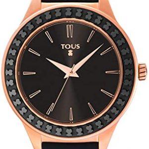 Reloj TOUS Straight Ceramic acero rosado silicona negra 900350365