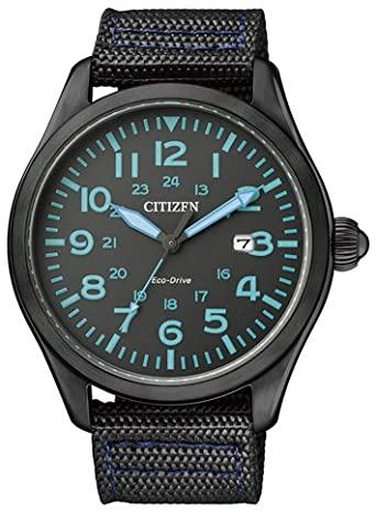 Reloj CITIZEN ECO DRIVE Analógico Correa Tela Color Negro BM6835-07E