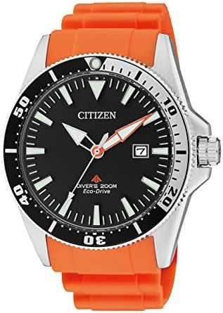 Reloj CITIZEN ECO DRIVE Analógico Cuarzo Correa de Poliuretano Color Naranja BN0100-18E